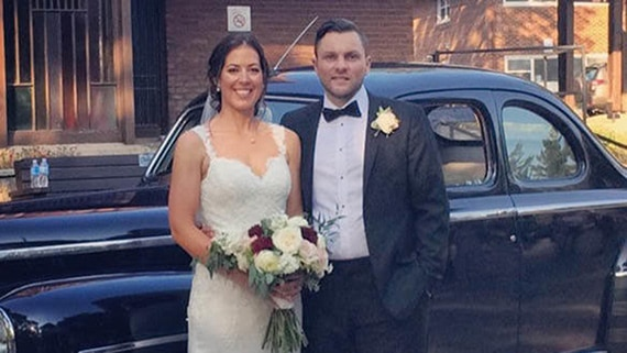Wedding Favours in Support of North York General Foundation - Newlywed couple